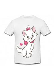 Tricou Aristocats marie cat alb