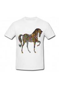 Tricou Large unicorn alb