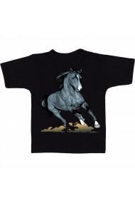 Tricou Realistic horse negru