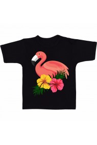 Tricou Summer flamingo negru