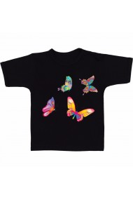Tricou Flying butterfly negru