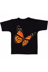 Tricou Monarch butterfly negru