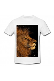 Tricou Gold lion alb