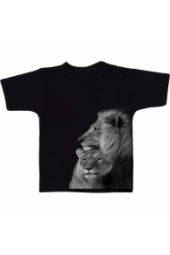 Tricou Lion and lioness negru