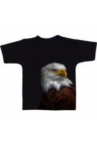 Tricou Black and white eagle negru