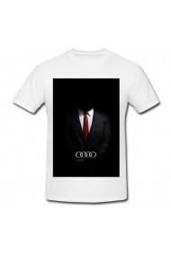 Tricou Audi man alb