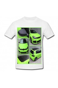 Tricou GTI Green alb
