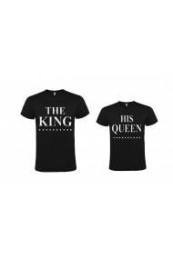 Set 2 tricouri The King si His Queen negru