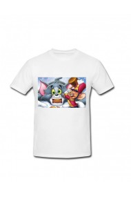 Tricou Jerry in actiune alb