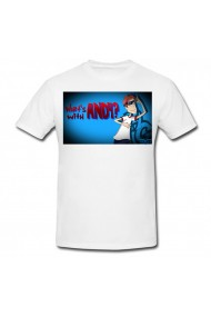 Tricou What`s with Andy? 2 alb