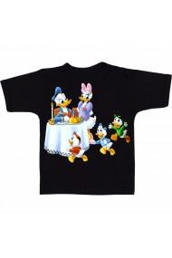 Tricou Donald Duck si copiii negru