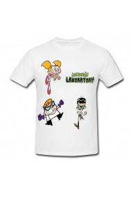 Tricou Dexter`s laboratory 2 alb