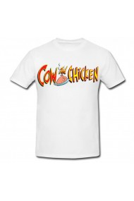 Tricou Cow and Chicken - text alb