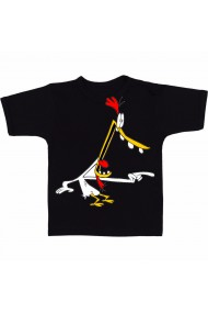 Tricou Scared chicken negru