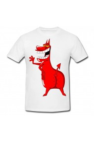 Tricou The Red Guy alb