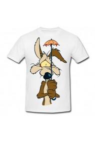 Tricou Coyote - with umbrella alb