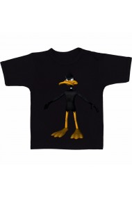 Tricou Duck Dogers Angry negru