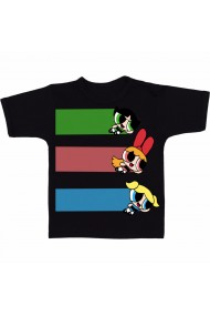 Tricou Flying powerpuff girls negru