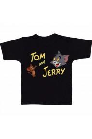 Tricou Tom and Jerry Cartoon negru