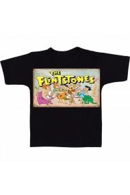 Tricou Personaje Flinstons negru