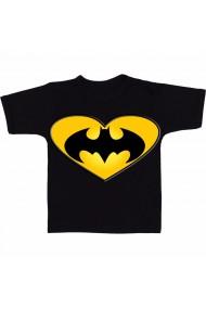 Tricou Batman heart logo negru