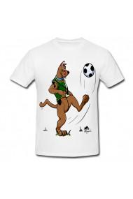 Tricou Scooby-Doo cu mingia alb