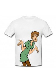 Tricou Characters Shaggy alb