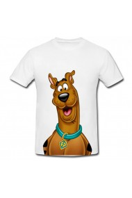 Tricou Scooby-Doo happy alb