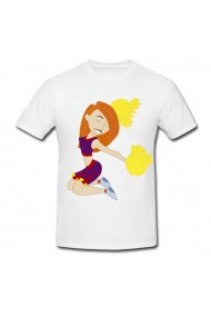 Tricou Kim Possible, for cheerleading alb