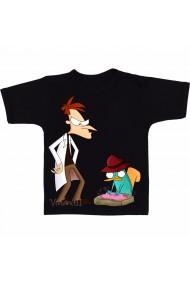 Tricou Dr. Heinz Doofenshmirtz & Perry negru