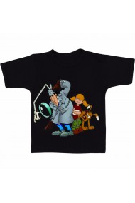 Tricou Inspector Gadget cartoon negru