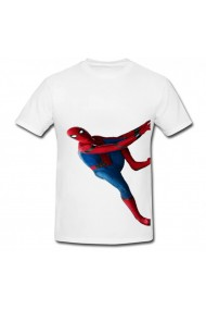 Tricou SpiderMan homecoming alb