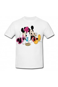 Tricou Mickey Mouse and Minnie Mouse - picnic alb