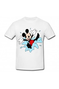 Tricou Mickey Mouse in apa alb