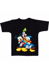 Tricou Mickey Mouse and Donald Duck negru