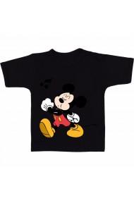 Tricou Mickey Mouse fluierand negru