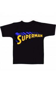 Tricou Superman text negru