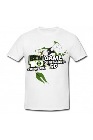 Tricou Ben 10 5D alb