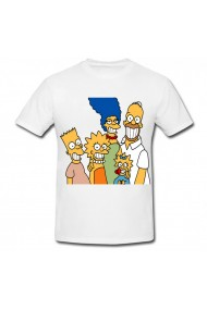 Tricou Bart Simpson and family alb