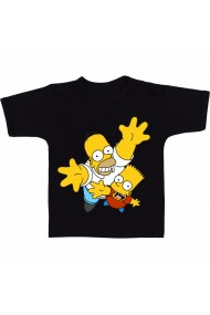 Tricou Homer and Lisa negru