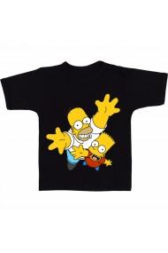 Tricou Homer and Lisa negru