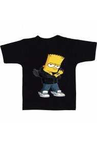 Tricou Do Bart Simpson negru