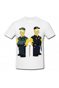 Tricou Homer in police dress alb