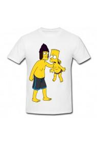 Tricou Bart Simpson deviantart wedgie alb
