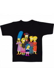 Tricou The Simpson family negru