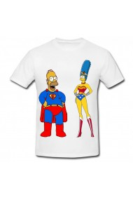 Tricou Marge Simpson wonder woman alb