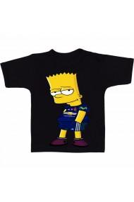Tricou Cara Bart Simpson negru