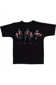 Tricou 3 x Captain America negru