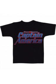 Tricou Captain America - In letters negru