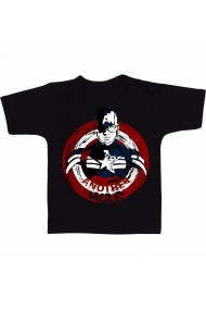 Tricou Captain America - Logo negru